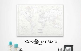 Conquest Maps Review | World And USA Pinboard Travel Maps
